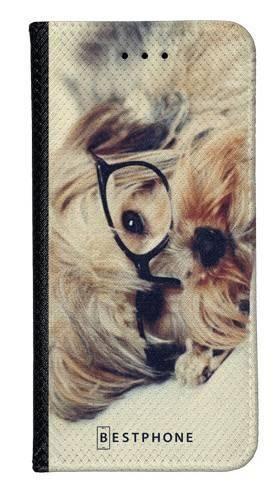 Portfel Wallet Case Samsung Galaxy A60 pies w okularach