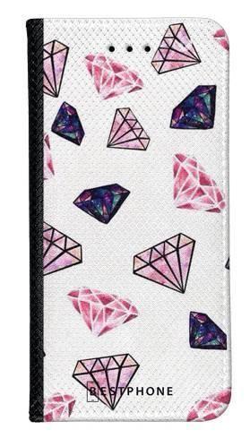 Portfel Wallet Case Samsung Galaxy A60 różowe diamenty