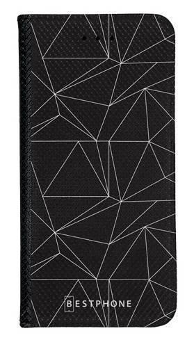 Portfel Wallet Case Samsung Galaxy A60 trójkątny wzór biały