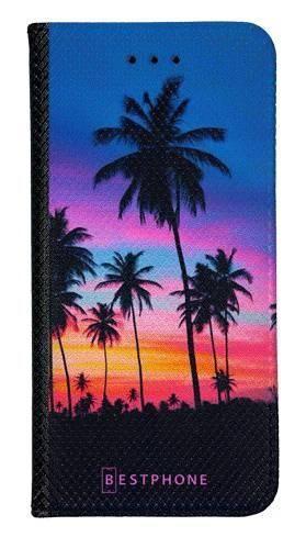 Portfel Wallet Case Samsung Galaxy A60 wieczorne palmy