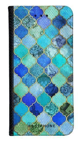 Portfel Wallet Case Samsung Galaxy Core Prime niebieski płytki