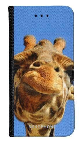 Portfel Wallet Case Samsung Galaxy Core Prime śmieszka żyrafa