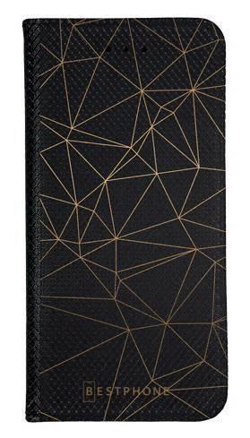 Portfel Wallet Case Samsung Galaxy Core Prime trójkątny wzór złoty