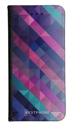 Portfel Wallet Case Samsung Galaxy Note 10 fioletowa geometria