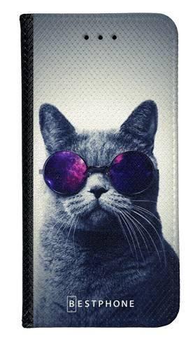 Portfel Wallet Case Samsung Galaxy Note 10 kot w okularach galaxy