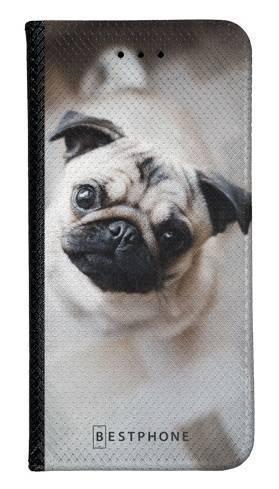 Portfel Wallet Case Samsung Galaxy Note 10 słodki mops