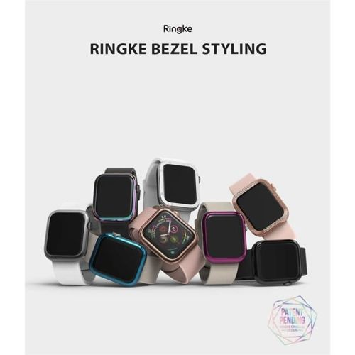 RINGKE obudowa nakładka BEZEL STYLING APPLE WATCH 1/2/3 (38MM) GLOSSY BLACK