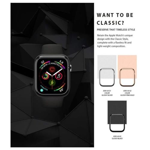 RINGKE obudowa nakładka BEZEL STYLING APPLE WATCH 1/2/3 (42MM) GLOSSY SILVER