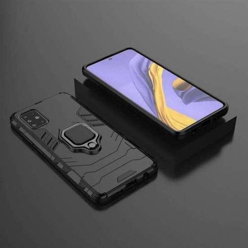 Ring Armor pancerne hybrydowe etui pokrowiec + magnetyczny uchwyt Samsung Galaxy A71 czarny