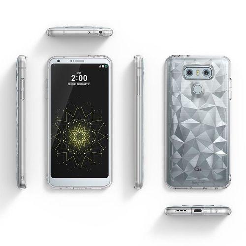 Ringke Air Prism designerskie żelowe etui pokrowiec 3D LG G6 H870 przezroczysty (APLG0005-RPKG)