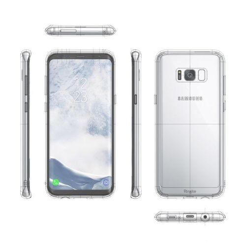 Ringke Fusion etui pokrowiec z żelową ramką Samsung Galaxy S8 G950 przezroczysty (FSSG0021-RPKG)