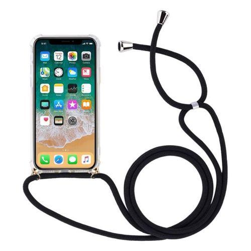 Rope case żelowe etui ze smyczą torebka smycz Huawei P Smart 2019 przezroczysty