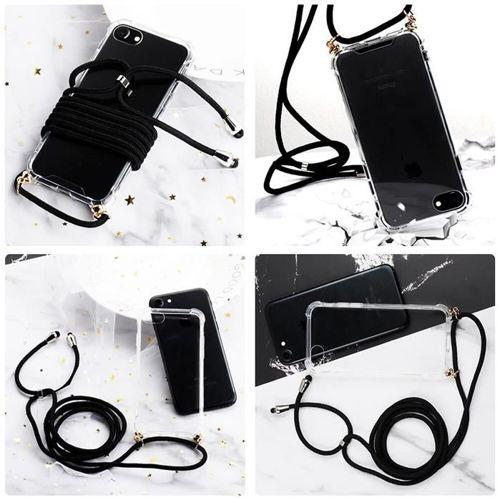 Rope case żelowe etui ze smyczą torebka smycz Huawei P30 Pro przezroczysty