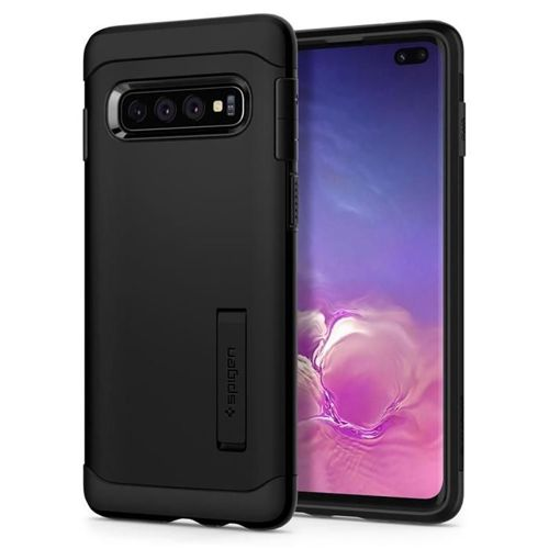 SPIGEN SLIM ARMOR GALAXY S10+ PLUS BLACK + szkło 5D UV