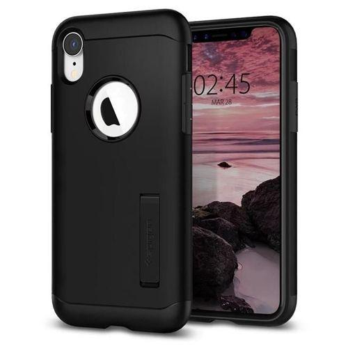SPIGEN Slim Armor iPhone XR black+ Folia 3MK FG