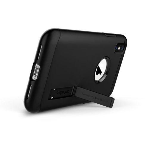 SPIGEN Slim Armor iPhone XS black +szkło 5D
