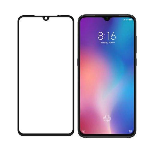 SZKŁO HARTOWANE FULL GLUE Xiaomi Mi9 czarny