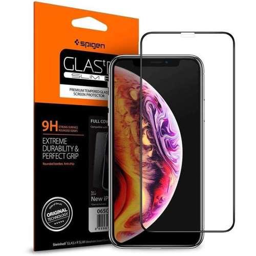 SZKŁO HARTOWANE SPIGEN GLASS FC IPHONE FC iPhone XS MAX BLACK