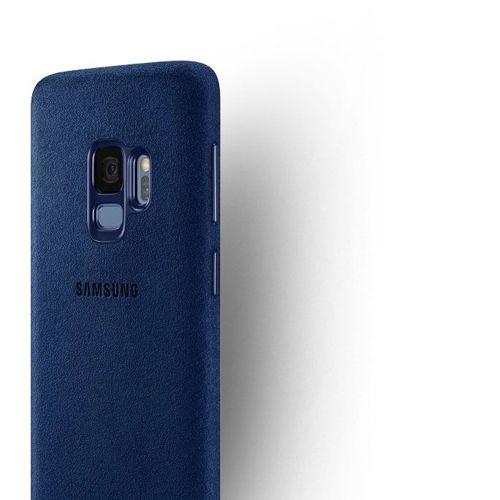 Samsung Alcantara Cover stylowe etui pokrowiec Samsung Galaxy S9 G960 niebieski