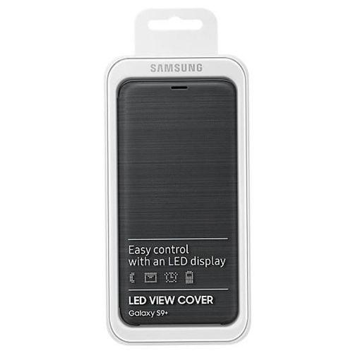 Samsung LED View Cover etui pokrowiec z wyświetlaczem LED Samsung Galaxy S9 Plus G965 czarny (EF-NG965PBEGWW)