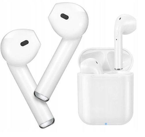 Słuchawki Bluetooth 5.0 I9S TWS Bezprzewodowe zestaw słuchawkowy +Powerbank Kable lightning 20cm obudowa  białe