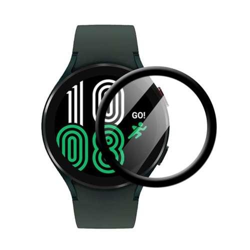 Szkło Hybrydowe FULL GLUE 5D do Samsung Watch 4 40mm czarny