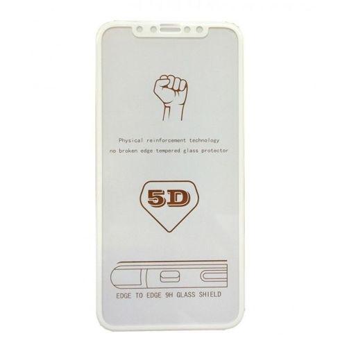 Szkło hartowane 5D IPHONE 8+ białe