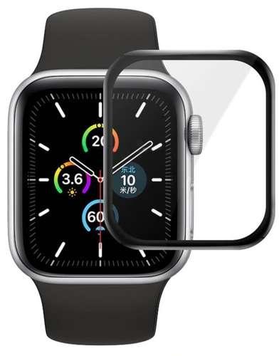 Szkło hybrodowe FULL GLUE 5D do Apple Watch 4 / 5 / 6 / SE 40mm czarny