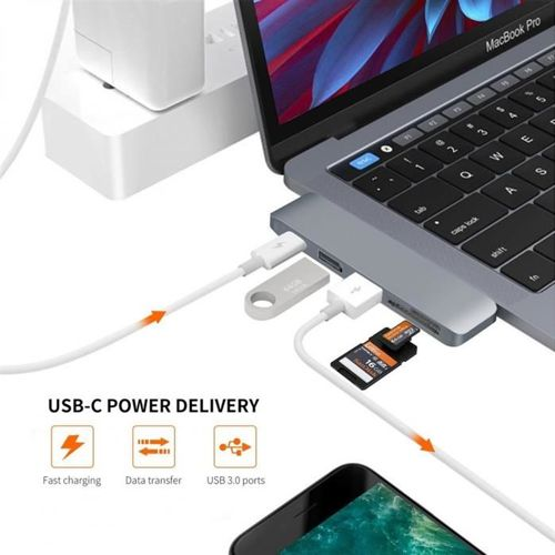 TECH-PROTECT ADAPTER TYPE-C TO MULTI PORT HUB GRAY