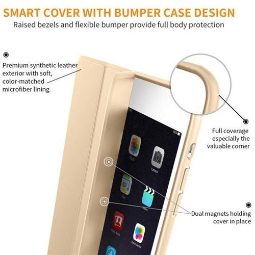 TECH-PROTECT Etui SMARTCASE IPAD MINI 1/2/3 GOLD
