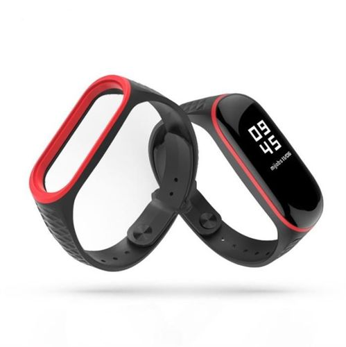 TECH-PROTECT SPORTY opaska pasek bransoleta XIAOMI MI BAND 3/4 BLACK/RED