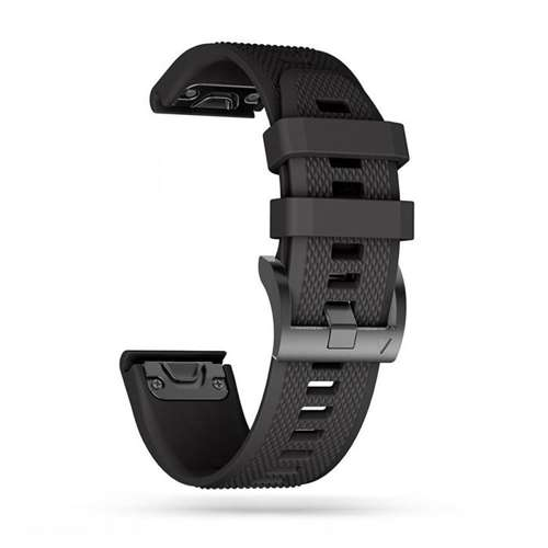 TECH-PROTECT opaska pasek bransoleta SMOOTH GARMIN FENIX 3/5X/3HR/5X PLUS/6X/6X PRO BLACK