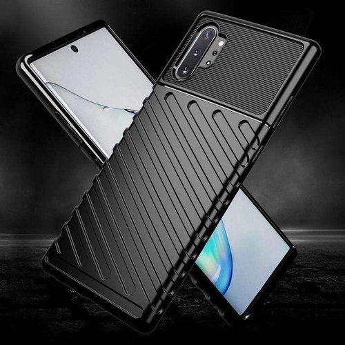Thunder Case elastyczne pancerne etui pokrowiec Samsung Galaxy Note 10 Plus czarny