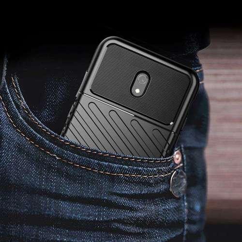 Thunder Case elastyczne pancerne etui pokrowiec Xiaomi Redmi 8A niebieski