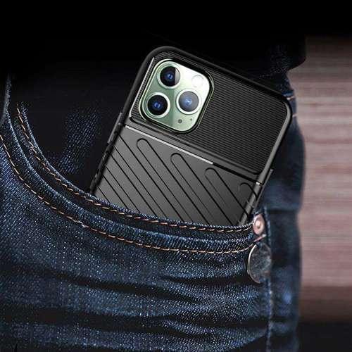 Thunder Case elastyczne pancerne etui pokrowiec iPhone 11 Pro Max zielony