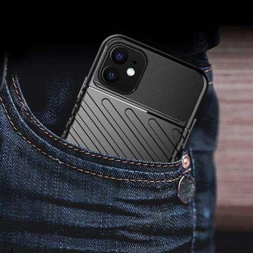 Thunder Case elastyczne pancerne etui pokrowiec iPhone 11 czarny