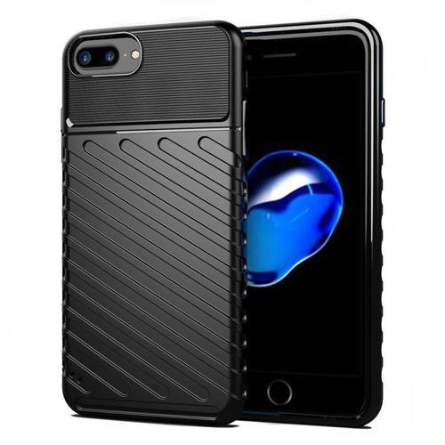 Thunder Case elastyczne pancerne etui pokrowiec iPhone 8 Plus / iPhone 7 Plus czarny