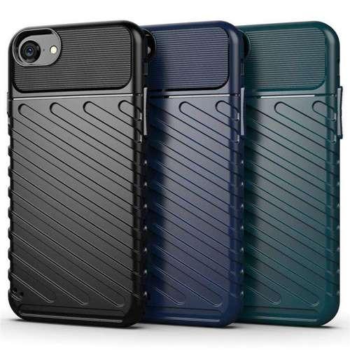 Thunder Case elastyczne pancerne etui pokrowiec iPhone SE 2020 / iPhone 8 / iPhone 7 niebieski