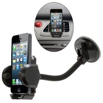 Uniwersalny Uchwyt samochodowy na telefon z przyssawką i giętkim ramieniem  TYP 2081 czarny
