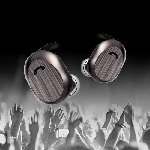 WK Design dokanałowe bezprzewodowe słuchawki Bluetooth 5.0 TWS czarny (TWS-V21 black)