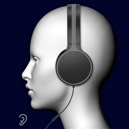 WK Design przewodowe słuchawki nauszne mini jack 3,5mm czarny (M3 black)