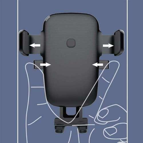 WK Design uchwyt samochodowy na kratkę wentylacyjną + bezprzewodowa ładowarka Qi 10W czarny (WP-U47 black)