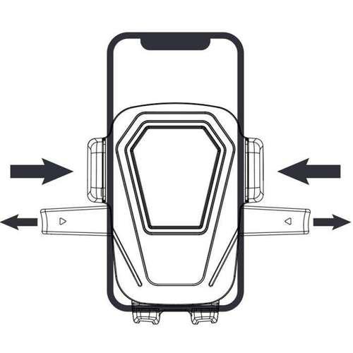 WK Design uchwyt samochodowy z regulowanym ramieniem na szybę i deskę rozdzielczą czarny (WP-U83 black)