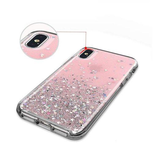 Wozinsky Star Glitter błyszczące etui pokrowiec z brokatem Samsung Galaxy A40 czarny
