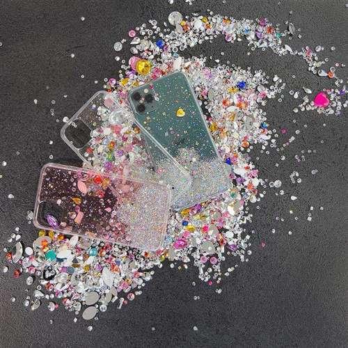 Wozinsky Star Glitter błyszczące etui pokrowiec z brokatem iPhone SE 2020 / iPhone 8 / iPhone 7 czarny