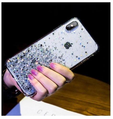 Wozinsky Star Glitter błyszczące etui pokrowiec z brokatem iPhone SE 2020 / iPhone 8 / iPhone 7 przezroczysty