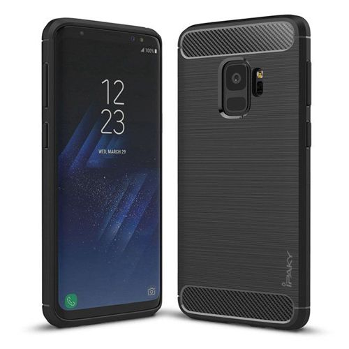 iPaky Slim Carbon elastyczne etui pokrowiec Samsung Galaxy S9 G960 czarny