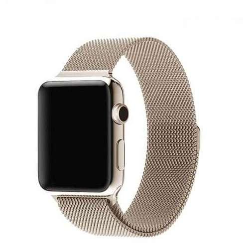 opaska pasek bransoleta MILANESEBAND Apple Watch 1/2/3/4/5/6/SE 38/40mm CHAMPAGNE GOLD