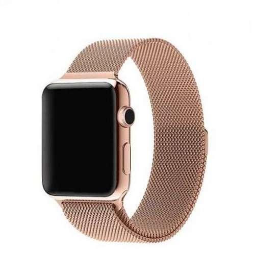 opaska pasek bransoleta MILANESEBAND Apple Watch 4/5/6/SE 40mm VINTAGE GOLD +szkło 5D