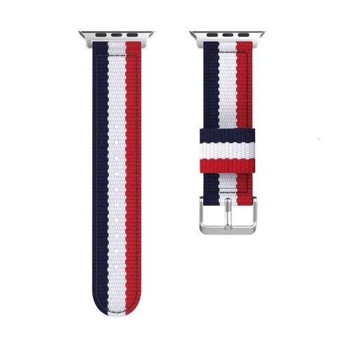 opaska pasek bransoleta WELLING APPLE WATCH 4/5/6/SE 44MM NAVY/RED +szkło 5D